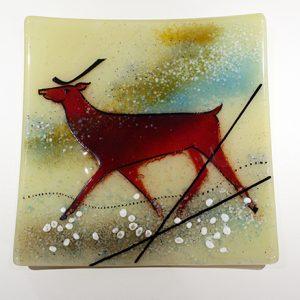 Deer Frit Plate