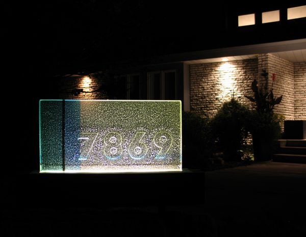 Fused Glass Address Marker