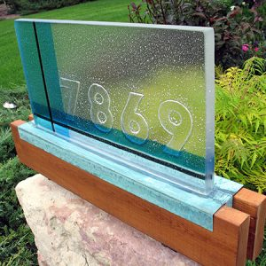 Fused Glass Address Marker