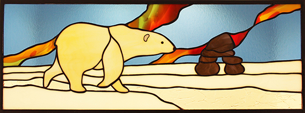 Polar Bear Stained Glass