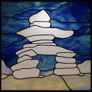 Stained Glass Inuksuk