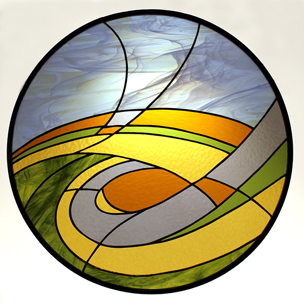 Stained Glass Prairie Scene